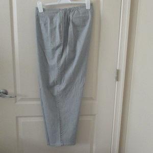 Pants - Talbots Woman 20W blue white striped pants